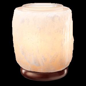 White Himalayan Salt Warmer